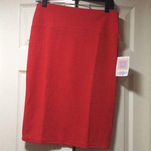 Lularoe red skirt (Cassie)